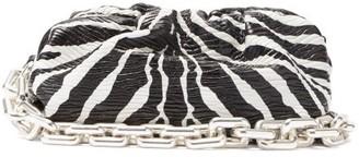 Bottega Veneta The Pouch Zebra-print Leather Shoulder Bag - Black White