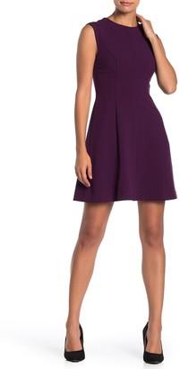 Vince Camuto Cap Sleeve Fit & Flare Dress (Petite)