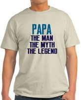 CafePress - PAPA THE MAN THE MYTH THE LEGEND T-Shirt - Unisex Crew Neck Cotton T-Shirt, Comfortable & Soft Classic Tee with Unique Design