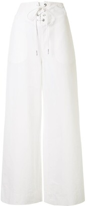 Dion Lee Wide-Leg Flared Trousers