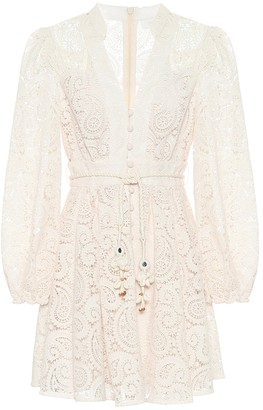 Zimmermann Exclusive to Mytheresa Broderie-anglaise minidress