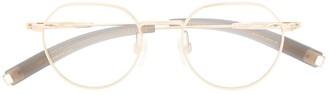 Dita Eyewear Metallic Round Glasses