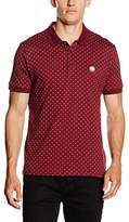 Pretty Green Men's Polka Dot Short Sleeve Polo Shirt
