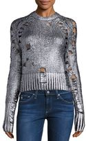 Euler Foil Distressed Wool & Cashmere Sweater