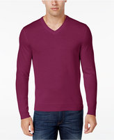 Club Room Men's Big and Tall Merino Blend VNeck Sweater, Only at Macy's