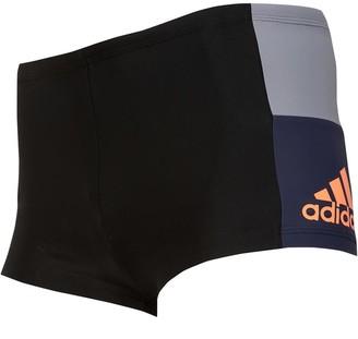 adidas Mens Colorblock Infinitex Swim Trunks Black/Hi-Res Orange