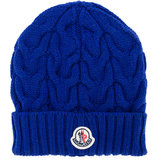 Moncler logo knitted beanie