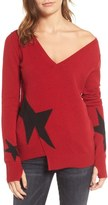 Pam & Gela Star Asymmetrical Sweater