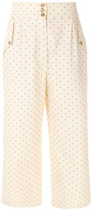 Nk Embroidered Crop Trousers