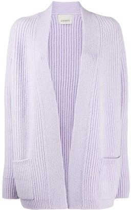 Laneus Chunky Ribbed-Knit Cardi-Coat