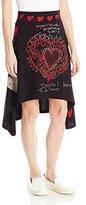 Desigual Women's Laila A-Line Skirt,Size 10 (Manufacturer Size:Small)
