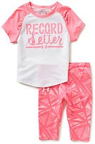 Under Armour Baby Girls 12-24 Months Record Setter Color Block Tee & Printed Leggings Set
