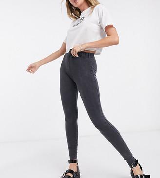 Reclaimed Vintage inspired leggings in washed black