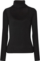 Diane von Furstenberg Gracey Cutout Wool And Cashmere-blend Turtleneck Sweater - Black