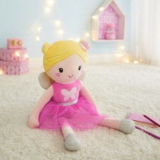 Your Zone Glow in the Dark 3D Plush Figural Pillow, Fairy Pastel