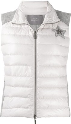 Lorena Antoniazzi Star Patch Padded Gilet