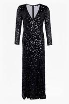 French Connection Helena Sparkle V Neck Maxi Dress
