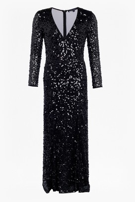 French Connection Helena Sparkle V Neck Maxi Dress
