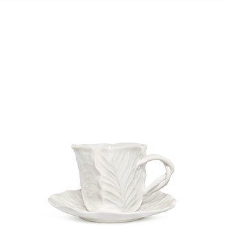 Tory Burch Lettuce Ware Cup & Saucer, Set Of 2