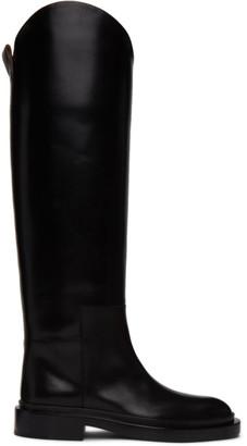 Jil Sander Black Cavaliere Boots