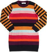 Sonia Rykiel Striped Wool Blend Knit Sweater Dress