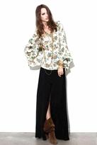 For Love & Lemons Santa Fe Maxi Skirt in Black