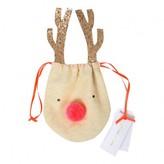 Meri Meri Fabric Reindeer Drawstring Bag