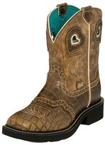 Justin Boots Justin Western Boots Womens Broad Square Toe Tan Copper L2930