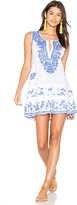 Juliet Dunn Shift Beach Dress in White