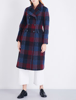 3.1 Phillip Lim Bouclé double-breasted check wool overcoat