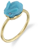 Irene Neuwirth Carved Turquoise Bunny Ring