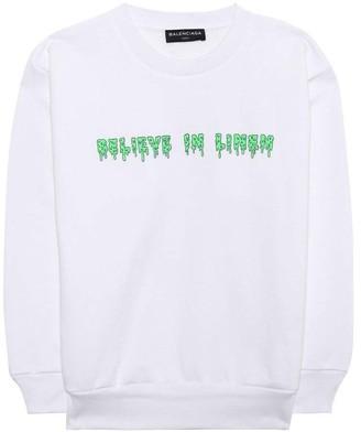Balenciaga Kids Believe In Linen Sweatshirt