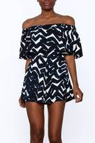 Flying Tomato Navy Print Romper