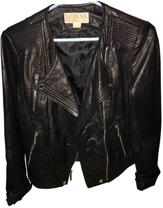 Michael Kors Black Leather Jackets