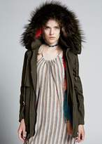 Jocelyn Bodia Jacket Fox Lined With Hood Multi