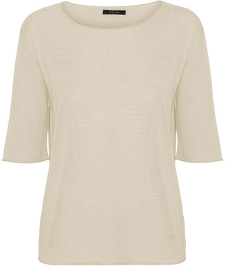 Oh Simple - Ivory Silk Cashmere Knit - xs