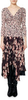 Isabel Marant Marlow Ruched Floral-Print Top