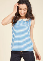 Everyday Fave Tank Top in Blue in 2X