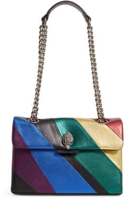 Kurt Geiger London Kensington Striped Leather Shoulder Bag