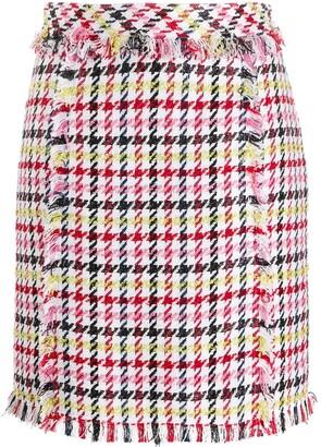 Karl Lagerfeld Paris Houndstooth Boucle Skirt