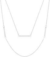 Bliss Sterling Silver Bar Layered Necklace