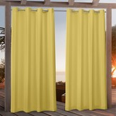 Nicole Miller 2-pack New York Canvas Indoor/Outdoor Window Curtains