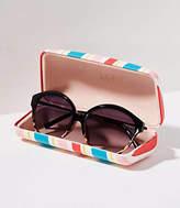 LOFT Striped Sunglasses Case