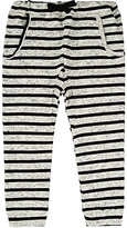 Emile et Ida Striped Cotton French Terry Sweatpants-CREAM, BLACK