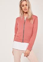 Missguided Basic Bomber Jacket Pink