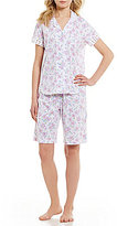 Karen Neuburger Floral Girlfriend Bermuda Pajamas