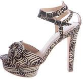 Loeffler Randall Printed Platform Sandals