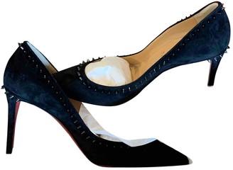 Christian Louboutin Anjalina Black Suede Heels