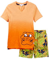 Flapdoodles Dip-Dye Tropical Tee & Shorts Set (Toddler & Little Boys)