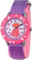 Sesame Street Purple And Pink Elmo Hearts Time Teacher Strap Watch W003188